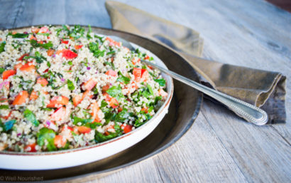 Our Food expert, Georgie Harding shares her Quinoa Tabbouleh Recipe- Guest Blog